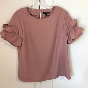 Rose Pink Business Casual Blouse (M)